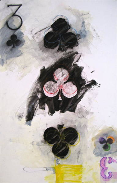 Painting - Three Of Clubs 14-52 by Cliff Spohn