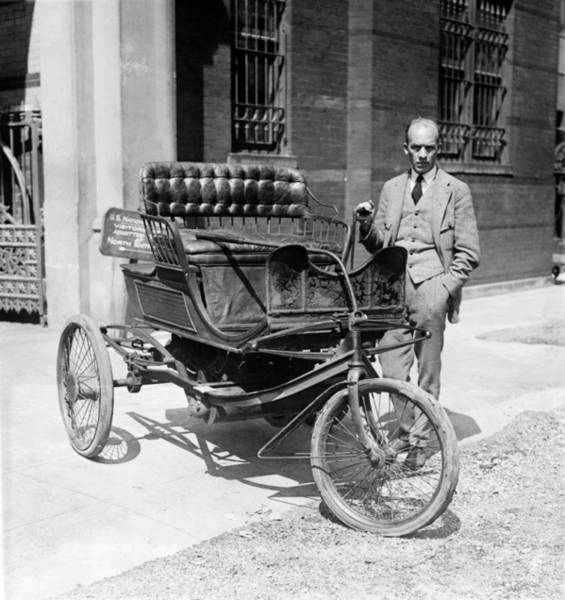 Photograph - Three-wheel Automobile by Granger
