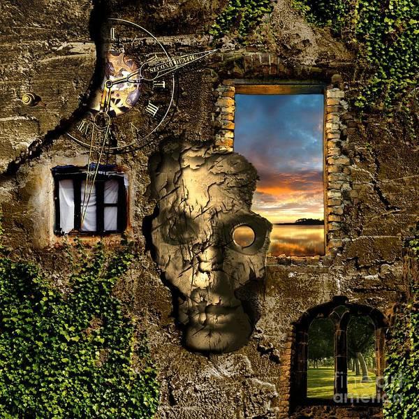 Red Sky Digital Art - Three Windows One Lies by Franziskus Pfleghart