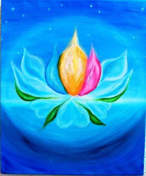 Acrilic Painting - Threefold Flame by Carla Marcelo