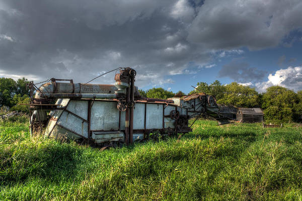 Thrash Metal Wall Art - Photograph - Threshing Machine  by Matt Dobson