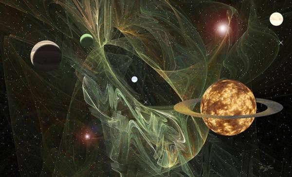 Digital Art - Through Space by Barry Jones