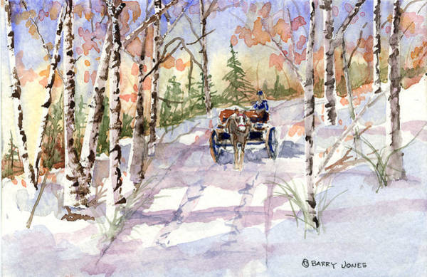 Painting - Through The Birches by Barry Jones