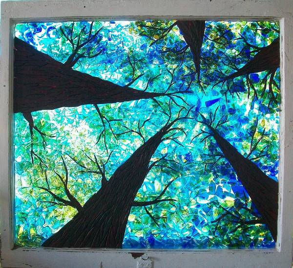 Wall Art - Glass Art - Through The Trees by Desiree Soule