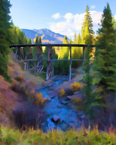 Digital Art - Thru The Bridge by Rick Wicker