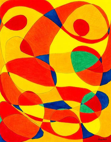 Drawing - Tiger Eyes by Lesa Weller