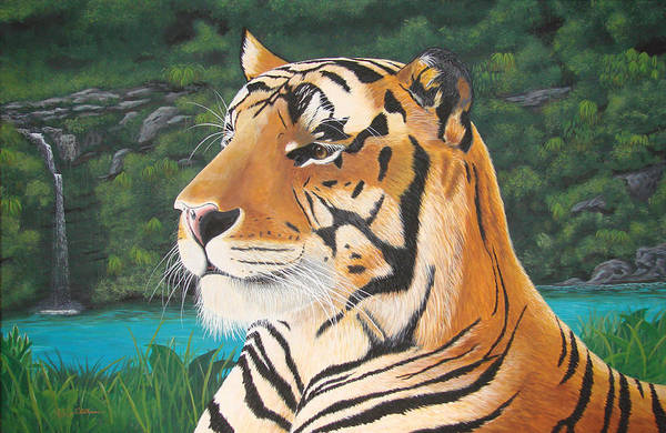 Painting - Tiger Falls by Jeffrey Oldham