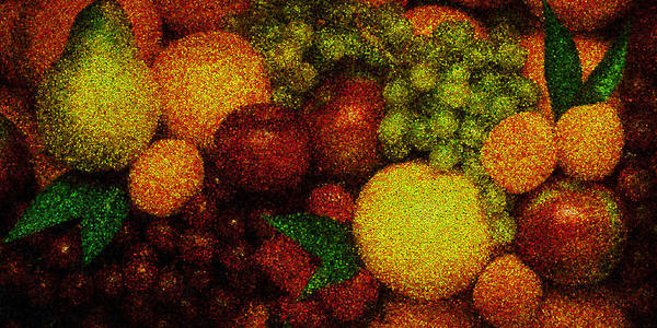 Tiled Fruit  Art Print