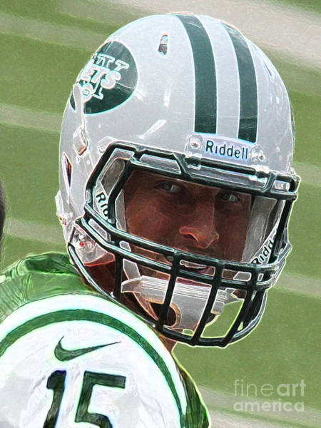 Nokia Photograph - Tim Tebow Art Deco IIi - New York Jets -  by Lee Dos Santos
