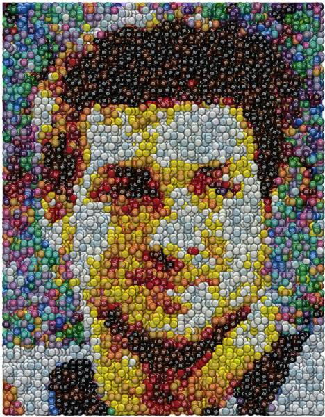 Ms Mixed Media - Tim Tebow Mms Mosaic by Paul Van Scott