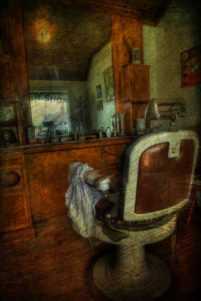 Hairdresser Wall Art - Photograph - Time For A Cut - Old Barbershop - Vintage - Nostalgia by Lee Dos Santos