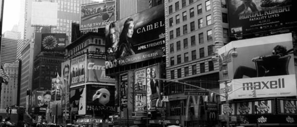 Photograph - Times Square Black And White by Andrew Fare