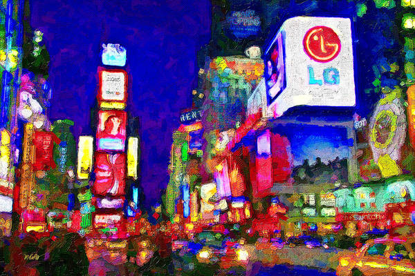 Wall Art - Mixed Media - Times Square by Michael Petrizzo