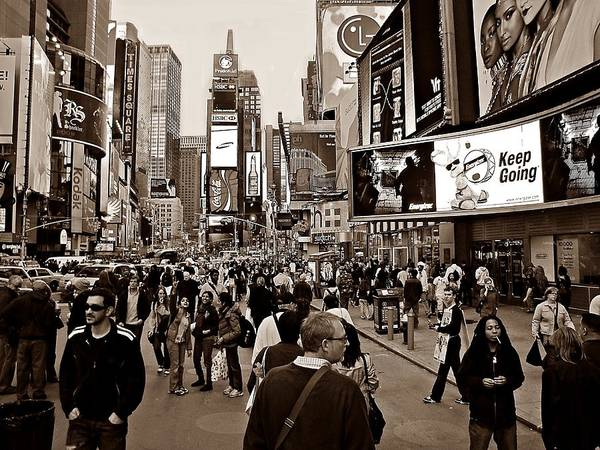 Photograph - Times Square New York S by David Dehner