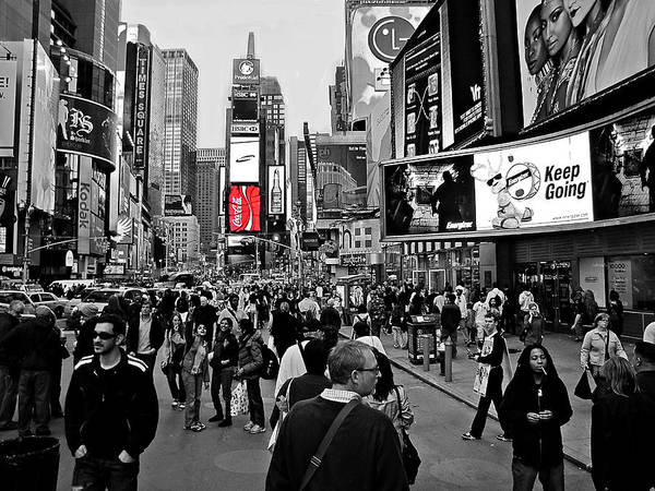 Photograph - Times Square New York Toc by David Dehner