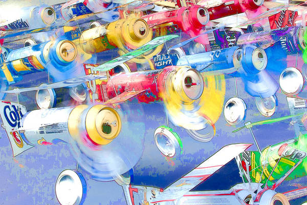 Beer Can Digital Art - Tin Can Alley by Randy Wimberly