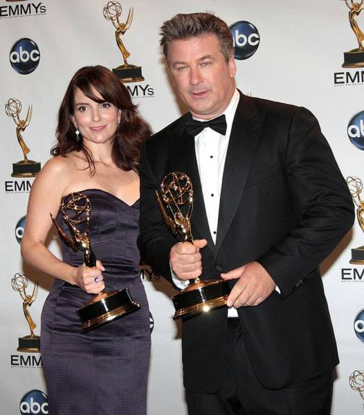 Nokia Photograph - Tina Fey, Alec Baldwin In The Press by Everett