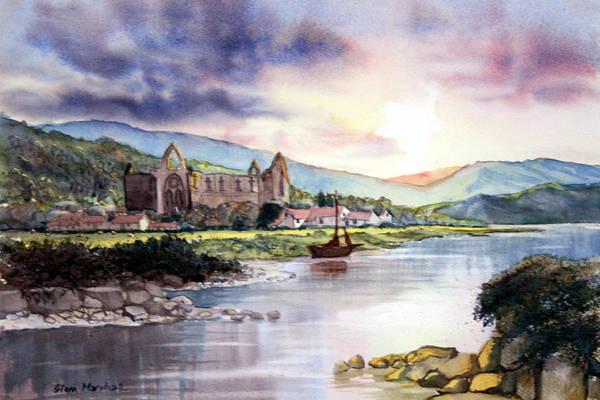 Painting - Tintern Abbey by Glenn Marshall