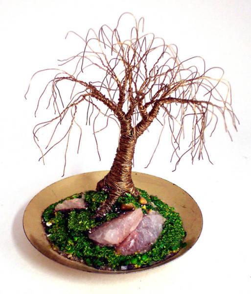 Jade Mixed Media - Tiny Brass Oak by Sal Villano