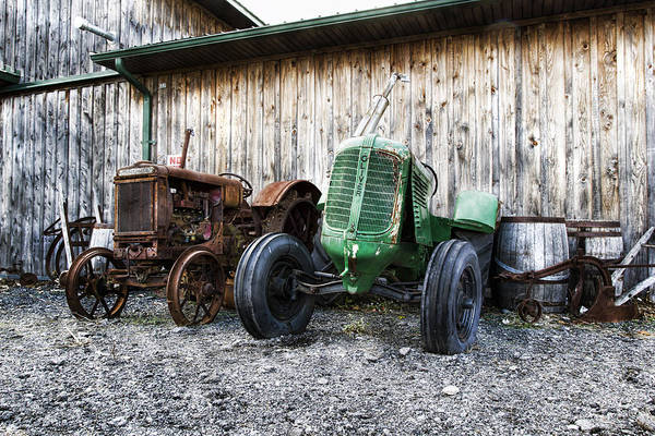 Farm Equipment Photograph - Tired Tractors by Peter Chilelli