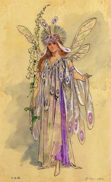 Manchester Drawing - Titania Queen Of The Fairies A Midsummer Night's Dream by C Wilhelm