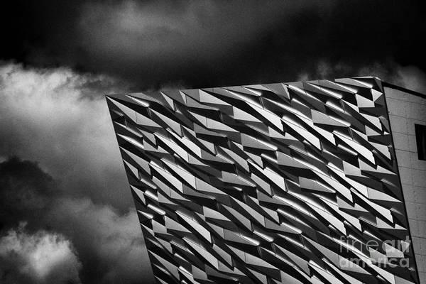 Wall Art - Photograph - Titanic Building Titanic Quarter Queens Island Belfast Northern Ireland Uk by Joe Fox