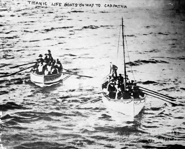 Photograph - Titanic: Lifeboats, 1912 by Granger