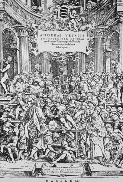 De Humani Corporis Fabrica Photograph - Title Page To Vesalius' Book On Anatomy by Dr Jeremy Burgess