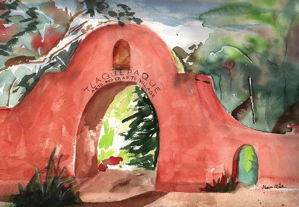 Oak Creek Canyon Painting - Tlaquepaque Arts And Crafts Village by Sharon Mick