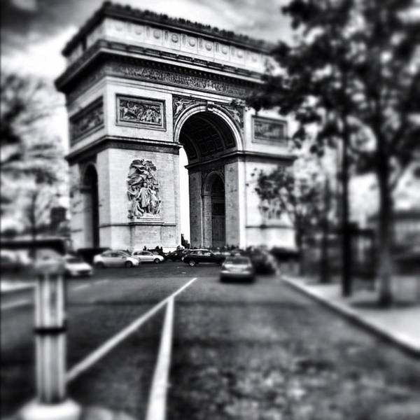 Blackandwhite Wall Art - Photograph - #today #paris #monument #bnw #monotone by Ritchie Garrod