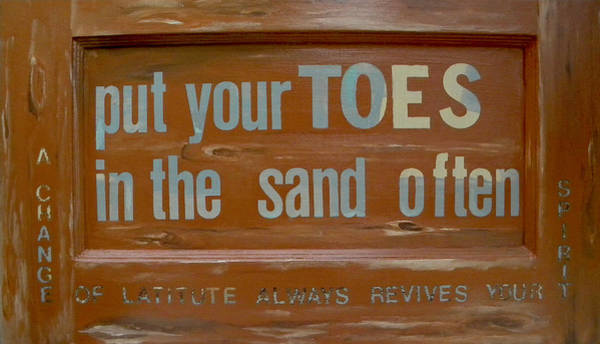 Painting - Toes In The Sand by Patti Schermerhorn