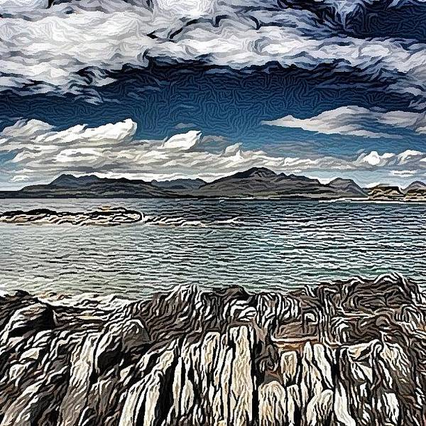 Tokavaig To The Black Cuillins Art Print