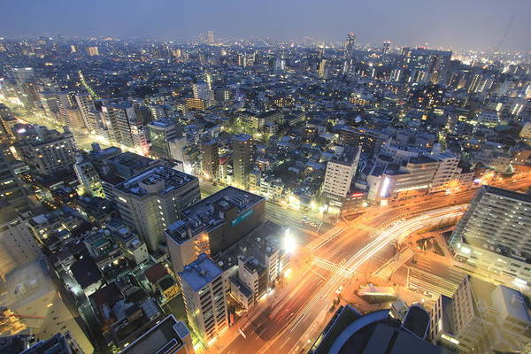 High Speed Photograph - Tokyo At Night by Flownage Photos