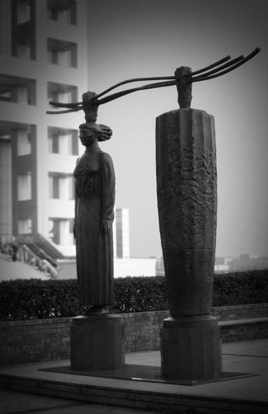 Wall Art - Photograph - Tokyo City Sculptures by Naxart Studio