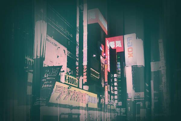 Metro Photograph - Tokyo Lights by Naxart Studio
