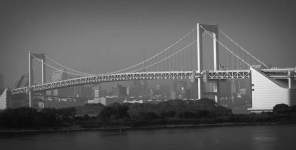 Rainbow Photograph - Tokyo Rainbow Bridge by Naxart Studio