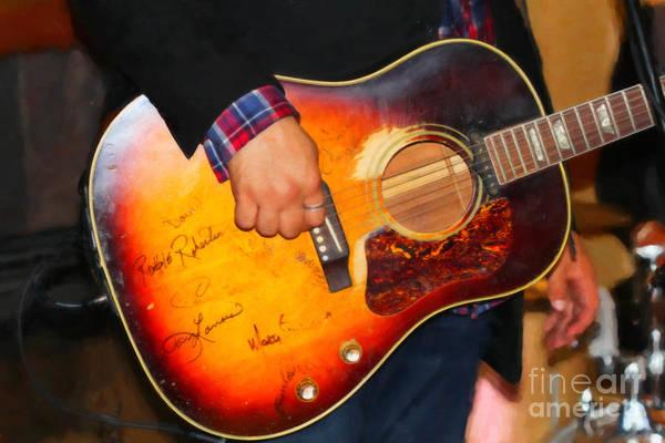 Digital Art - Tom Wilson's Guitar by Donna L Munro