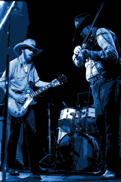 Photograph - Tommy And Charlie Play Some Blues At Winterland In 1975 by Ben Upham