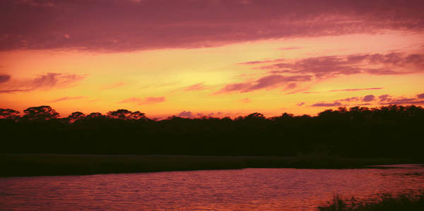 Ormond Photograph - Tomoka River Sunset by DigiArt Diaries by Vicky B Fuller