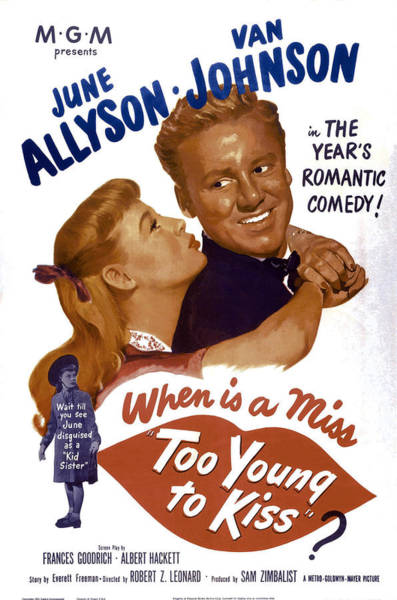 Van Johnson Photograph - Too Young To Kiss, From Left June by Everett