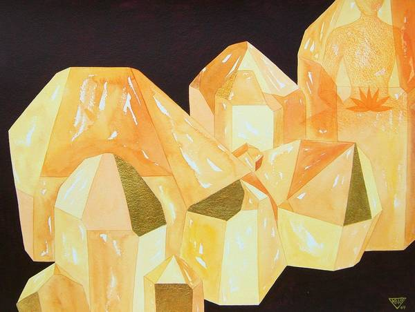 Wall Art - Painting - Topaz Sacral Chakra by Jennifer Baird