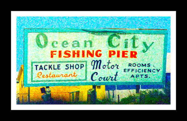 Piers Digital Art - Topsail Island Old Sign by Betsy Knapp