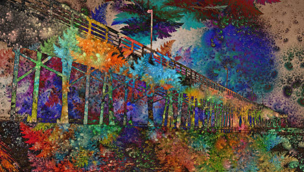 Pier Digital Art - Topsail Island Stylin' by Betsy Knapp