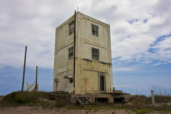 Barrier Photograph - Topsail Island Tower 3 by Betsy Knapp