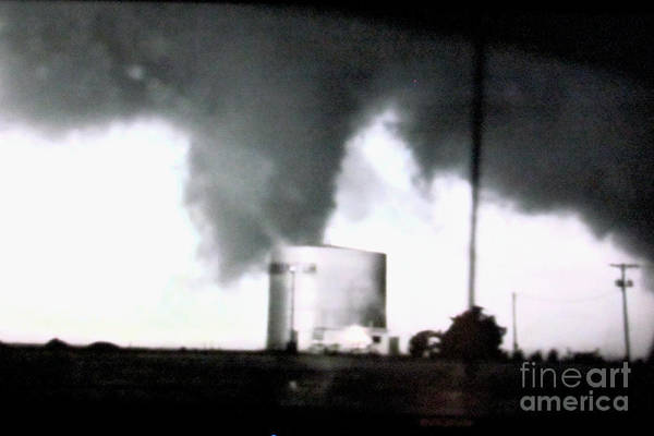 Photograph - Tornado Attacks A Water Tower by Stanley Morganstein