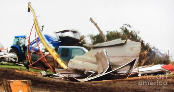 Photograph - Tornado Plowed Destruction 3d by Stanley Morganstein