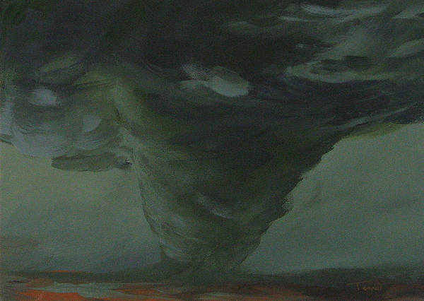 Wall Art - Painting - Tornado V by Torrie Smiley