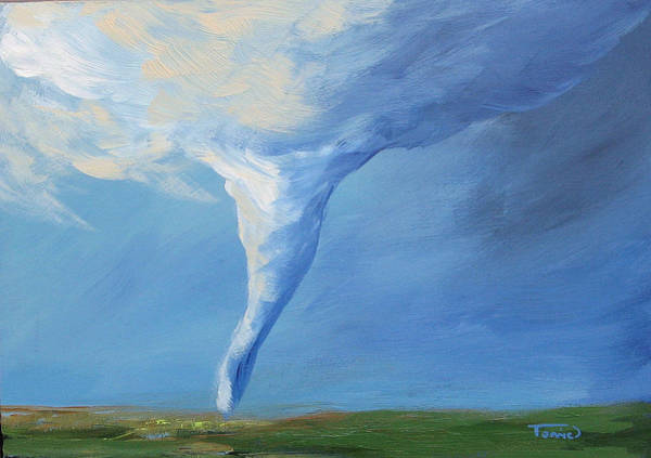 Wall Art - Painting - Tornado Vi by Torrie Smiley