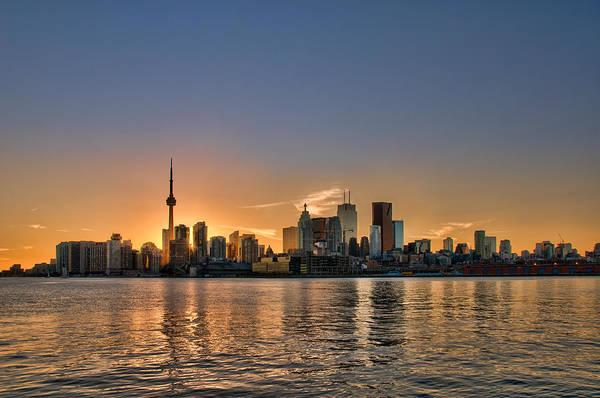 Toronto At Sunset Art Print