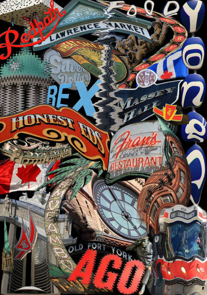 Photograph - Toronto Pop Art Montage by Andrew Fare